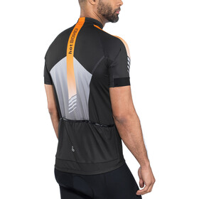 Löffler Hotbond Reflective Bike Jersey Half-Zip Men black/orange
